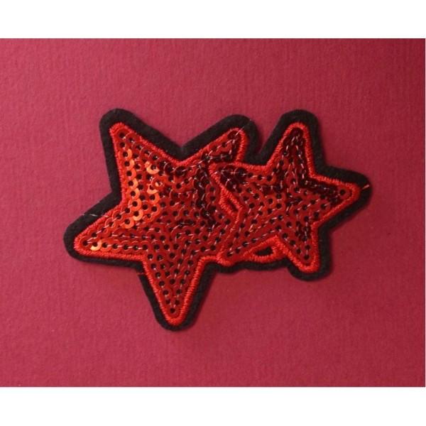 Ecusson étoile brodé thermocollant - Photo n°2