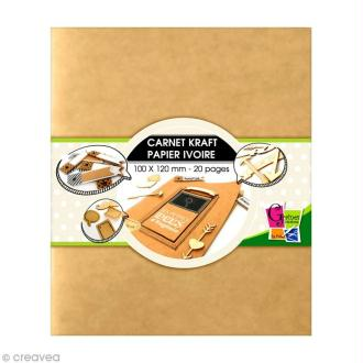 Carnet kraft 10 x 12 cm - 20 pages ivoire