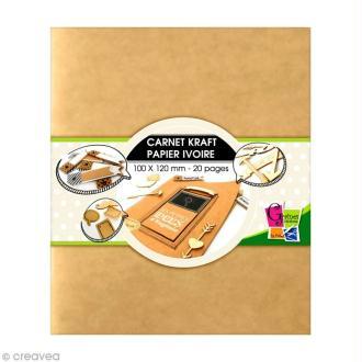 Carnet kraft 10 x 12 cm - 20 pages ivoire