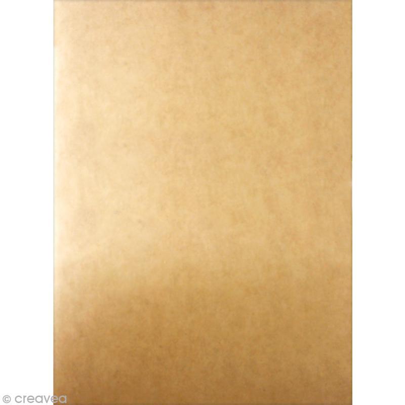 Carnet kraft 16 x 22 cm - 20 pages ivoire - Photo n°2