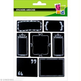Stickers ardoise - Etiquettes élégantes - 28 autocollants