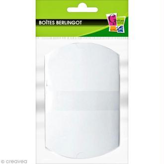Boîte cadeau berlingot 7,7 x 12,3 cm - Blanc - 6 emballages