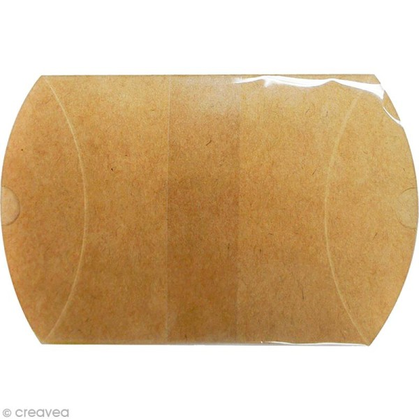 Boîte cadeau berlingot 6,5 x 7 cm - Kraft - 6 emballages - Photo n°2