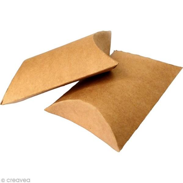 Boîte cadeau berlingot 6,5 x 7 cm - Kraft - 6 emballages - Photo n°3