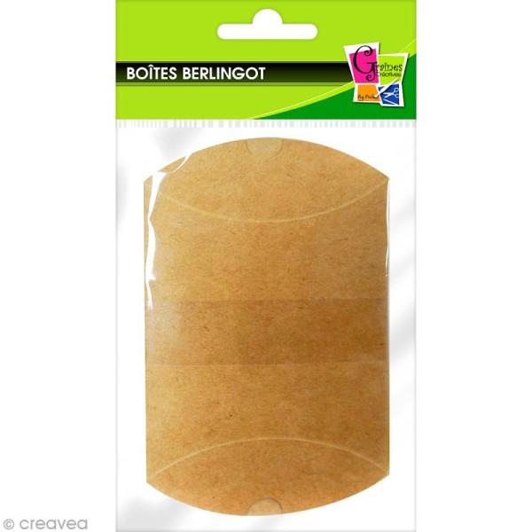 Boîte cadeau berlingot 6,5 x 7 cm - Kraft - 6 emballages - Photo n°1