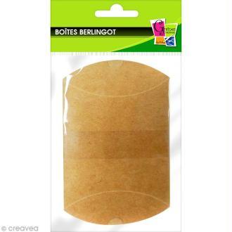 Boîte cadeau berlingot 6,5 x 7 cm - Kraft - 6 emballages