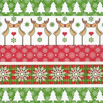Serviette en papier Noël - Rennes amoureux