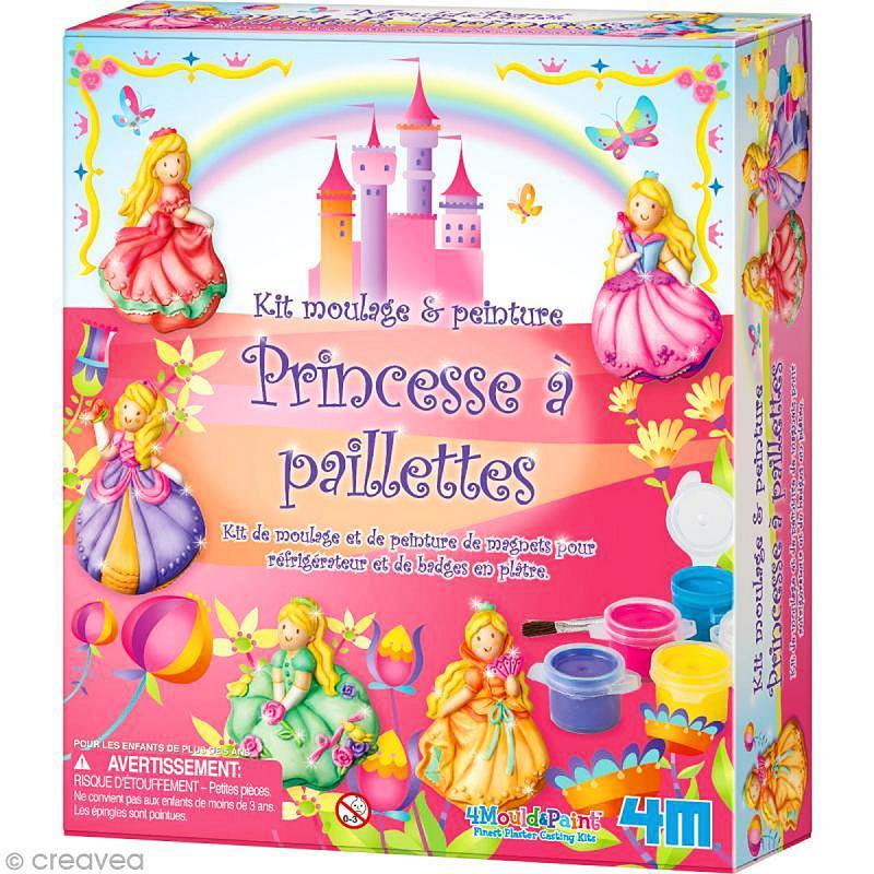 kit moulage et peinture princesse paillettes moulage enfant creavea. Black Bedroom Furniture Sets. Home Design Ideas