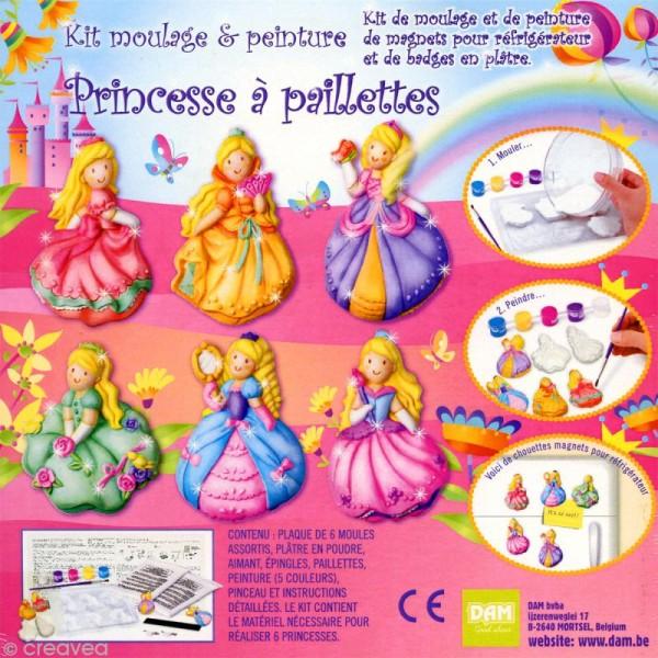 Kit moulage et peinture - Princesse à paillettes - Photo n°2