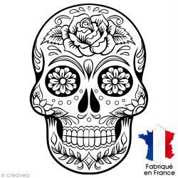 Coloriage Adulte Tete De Mort Mexicaine