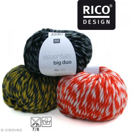 Laine Rico Design - Essentials big duo - 50 gr - 50% laine 50% acrylique - Photo n°1