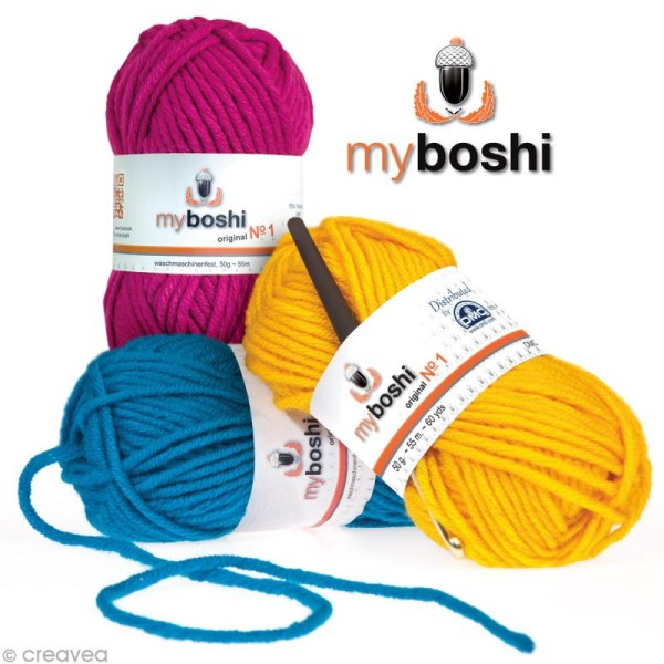 Laine à crocheter MyBoshi n°1 - 52 coloris - 50 gr - Photo n°1
