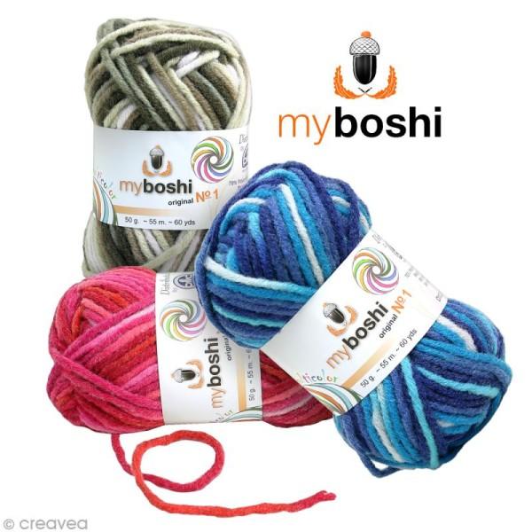 Laine à crocheter MyBoshi n°1 multicolore - 8 coloris - 50 gr - Photo n°1