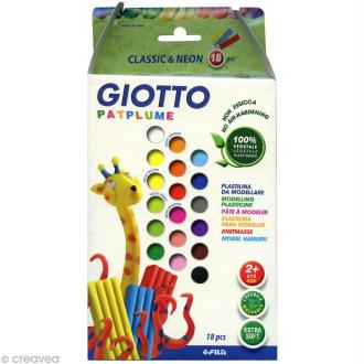 Pâte à modeler Patplume Giotto - Assortiment classique - 18 x 20 gr