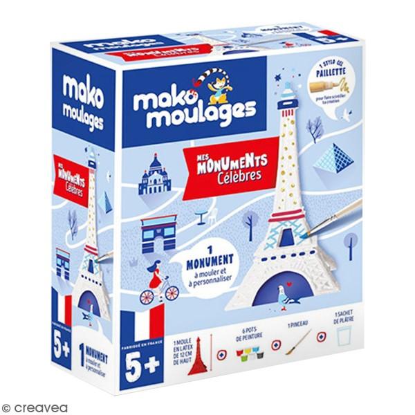 Coffret moulage en plâtre - Ma tour Eiffel - Mako moulages - 1 moule - Photo n°1