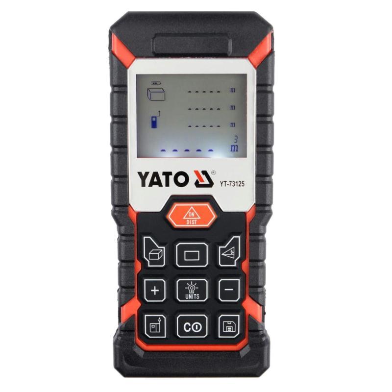 T l m tre laser yato 40 m niveaux creavea - Metre laser castorama ...
