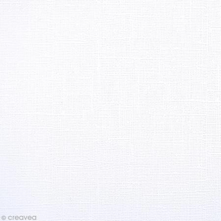 feuille de papier tiss adh sif 30 x 30 cm blanc papier 30x30 creavea. Black Bedroom Furniture Sets. Home Design Ideas