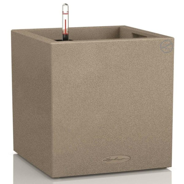 Lechuza Jardinière Canto Color Square 40 All-in-one Beige 13721 - Photo n°1