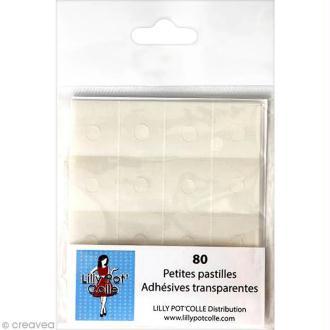 Pastille adhésive transparente ronde 6 mm - 80 pcs
