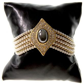 Lot de 50 coussins montre et bracelet simili cuir 8x8 cm Noir