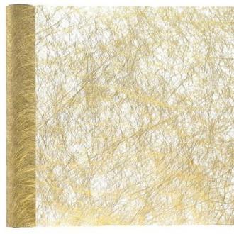 5 Mètres de chemin de table fanon métallisé or