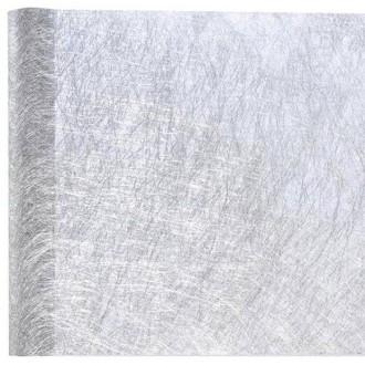 5 Mètres de chemin de table fanon métallisé argent