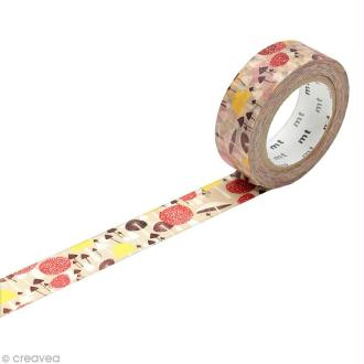Masking Tape - Champignons - 15 mm x 10 m