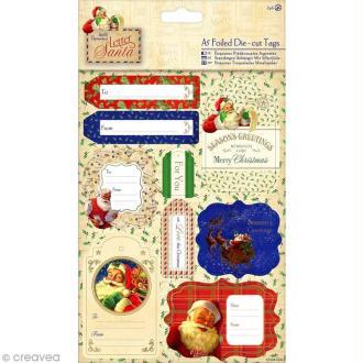 Stickers étiquettes Noël - Letter to Santa - 18 pcs