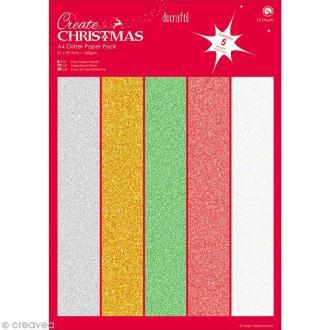 Papier scrapbooking A4 - Create Christmas - 15 feuilles