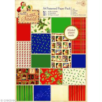 Papier scrapbooking A4 - Letter to Santa 2 - 32 feuilles