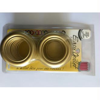 oeillets pour rideaux à clipser lot de 8 coloris or/doré 701 Ø 41mm