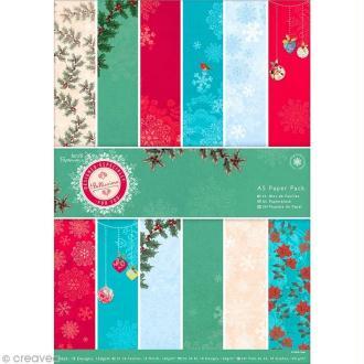 Papier scrapbooking A5 - Bellissima Christmas - 36 feuilles