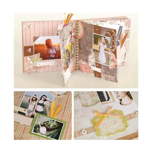 Orange Vert Rose Jaune Marron 6inch Vintage Kit de Scrapbooking, Pour l'Ami de la Famille, les Enfan - Photo n°2