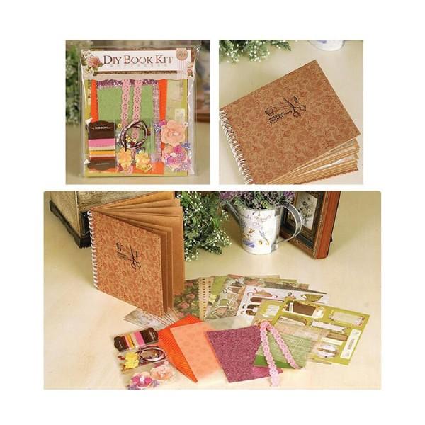 Orange Vert Rose Jaune Marron 6inch Vintage Kit de Scrapbooking, Pour l'Ami de la Famille, les Enfan - Photo n°1