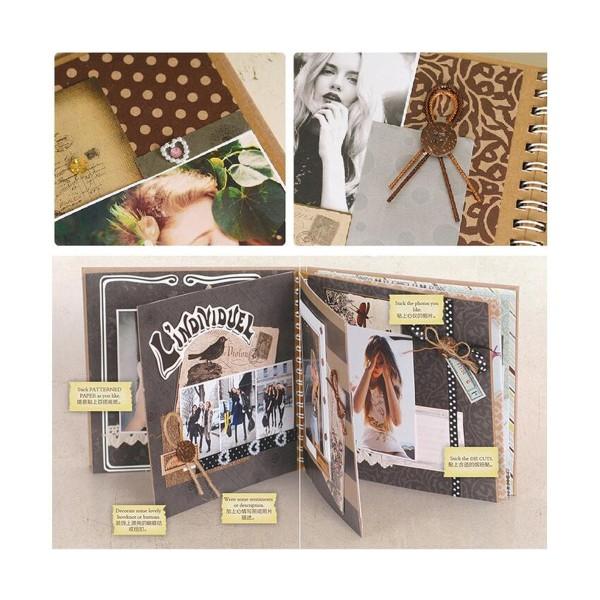 Noir Brun Argent Bronze Beige Rose 6inch Vintage Kit de Scrapbooking, Pour l'Ami de la Famille, les - Photo n°2