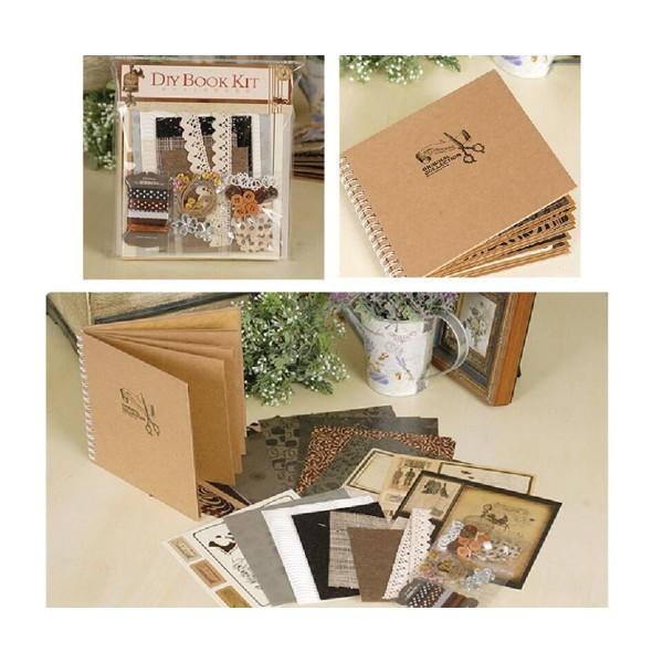 Noir Brun Argent Bronze Beige Rose 6inch Vintage Kit de Scrapbooking, Pour l'Ami de la Famille, les - Photo n°1