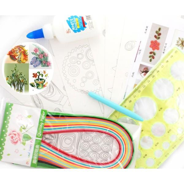 Paperolle Ensemble de Papier de BRICOLAGE Kit de 5 Projets de Tutoriels, d'un Modèle du Conseil, de - Photo n°2