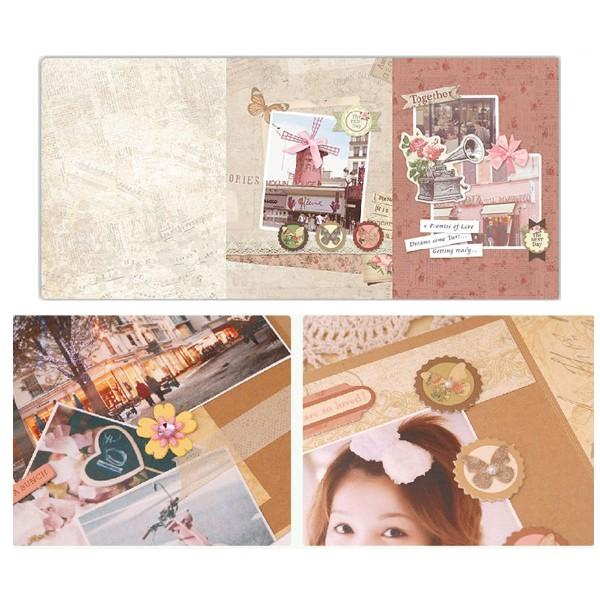 Rose Brun Noir Or Album de Scrapbooking Kit après-Midi 23 cm x 22,5 cm - Photo n°2