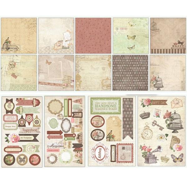 Rose Brun Noir Or Album de Scrapbooking Kit après-Midi 23 cm x 22,5 cm - Photo n°3
