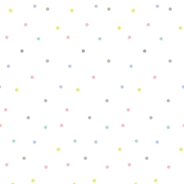Papier peint intissé pois multicolores - Photo n°2