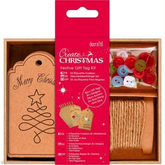 Kit étiquette cadeau Noël - Create Christmas - 8 pcs