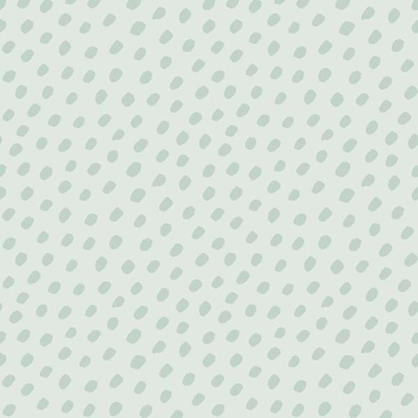 Papier peint intissé motif taches vertes, fond vert. - Photo n°1