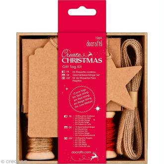 Kit étiquette cadeau Noël - Create Christmas - 12 pcs