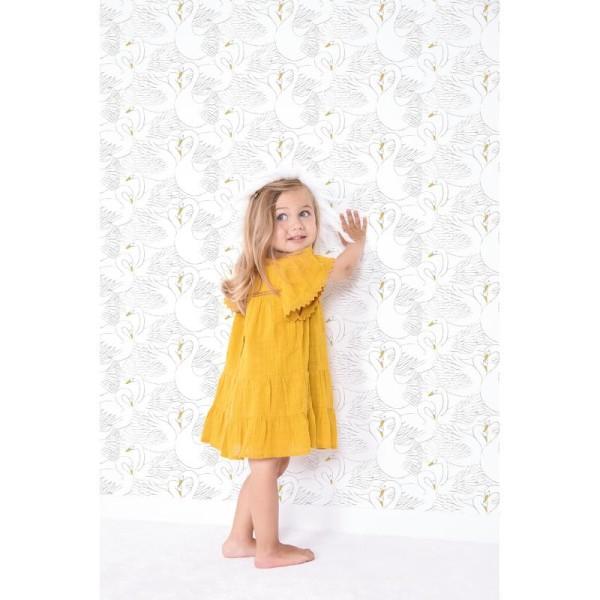 Papier peint intissé motif fleurs, botany gold - Photo n°2