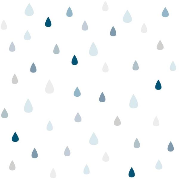 Papier peint intissé motif gouttes de pluie - Photo n°1