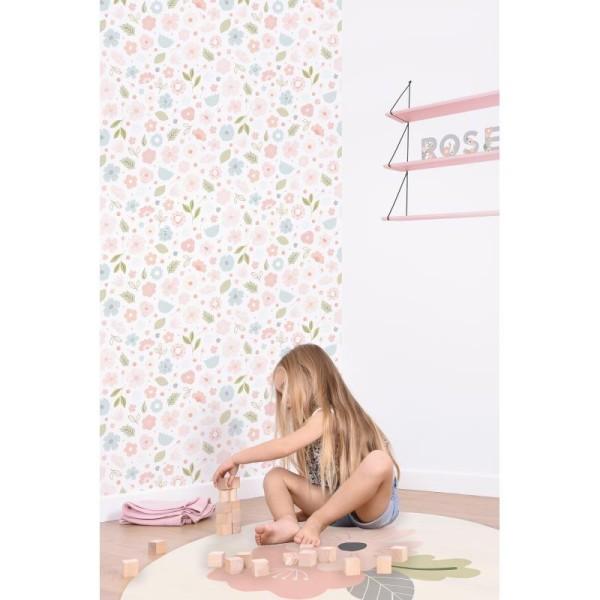Papier peint intissé motif fleurs bloom - Photo n°2