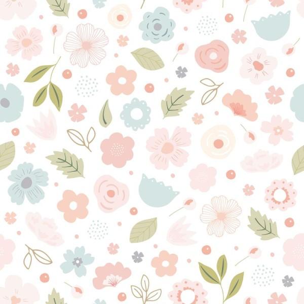 Papier peint intissé motif fleurs bloom - Photo n°1