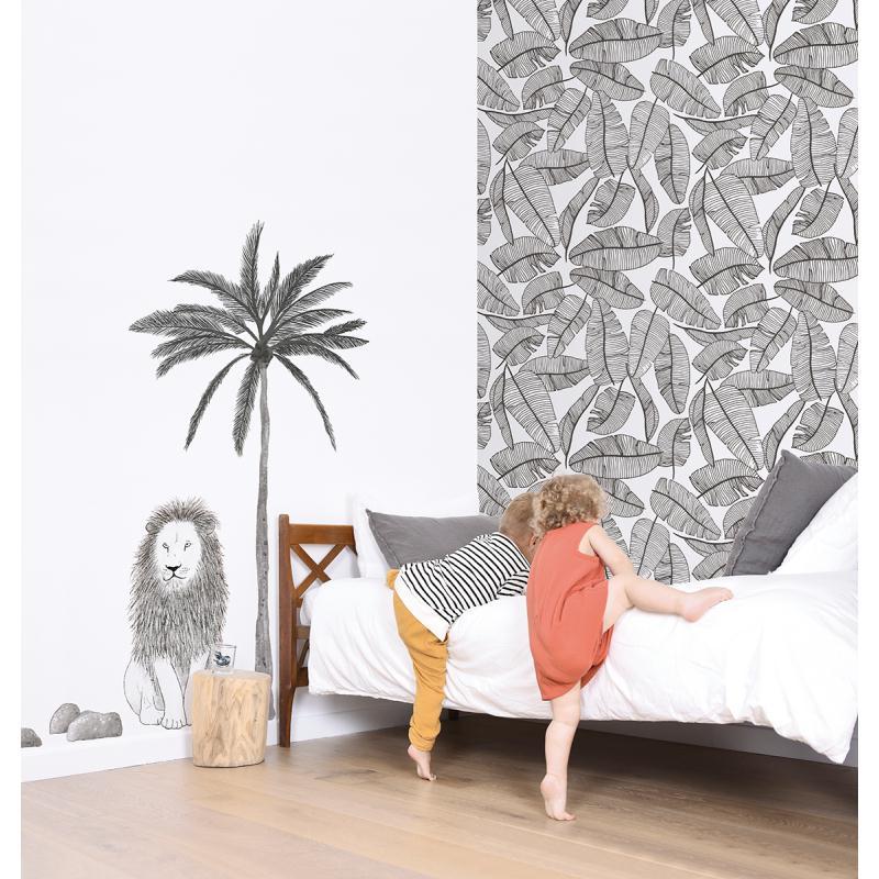 papier peint intiss motif feuillage tropical serengeti. Black Bedroom Furniture Sets. Home Design Ideas