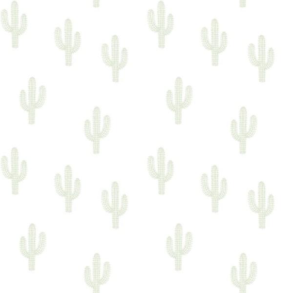 Papier peint intissé motif cactus verts - Photo n°1