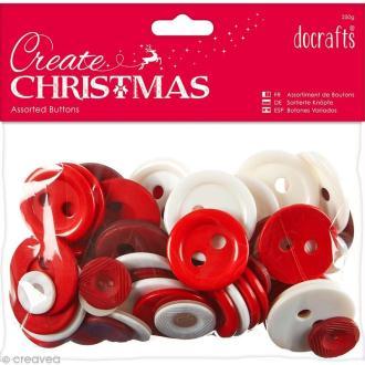 Assortiment boutons Noël Nordique - Create Christmas - 250 gr